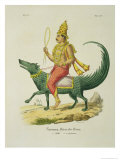 Varuna God of the Oceans Giclee Print by Louis Thomas Bardel