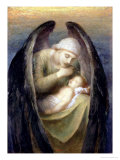 Death Crowning Innocence, 1899 Premium Giclee Print by George Frederick Watts