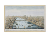 "A General View of the City of London and the River Thames, Plate 2 from ""Views of London"" Giclee Print by Thomas Bowles"