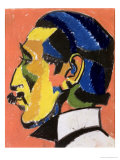 Portrait of Horace Brodsky Giclee Print by Henri Gaudier-brzeska