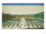 View and Perspective of the Palais Royal from the Garden Side Giclee Print by Jean Chaufourier