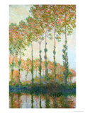 Poplars on the Banks of the Epte, Autumn, 1891 Impressão giclée premium por Claude Monet