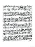Music Score of Johann Sebastian Bach Giclee Print