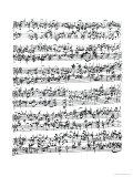 Music Score of Johann Sebastian Bach Giclee Print