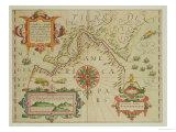 "Map of the Magellan Straits, Patagonia, from the Mercator ""Atlas"" Premium Giclee Print"