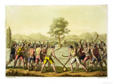 "Indians Playing Ciueca, Chile, from ""Le Costume Ancien Et Moderne"" Giclee Print by G. Bramati"