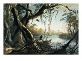 The Mouth of the Fox River, Indiana Giclee Print by Karl Bodmer