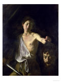 David with the Head of Goliath, 1606 Premium Giclee Print by  Caravaggio