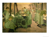 British Industries, Cotton, circa 1923/4 Gicleetryck av Frederick Cayley Robinson