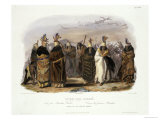 Ptihn-Tak-Ochata, Dance of the Mandan Women, Giclee Print, Karl Bodner