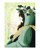 Saint Brigid Giclee Print by Theresa Lucero