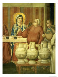 The Marriage at Cana, Detail of the Wine Tasters, circa 1305 Giclee Print by  Giotto di Bondone