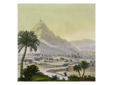 "A View of the Township of Lima, Peru, from ""Le Costume Ancien Et Moderne"" Giclee Print by Friedrich Alexander Humboldt"