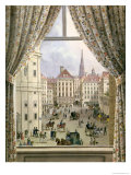 View of the Freyung, Vienna, 1825 Giclee Print by Friedrich Wigand