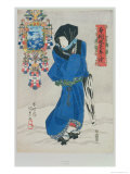 Japanese Woman in the Snow Giclee Print by Utagawa Kunisada