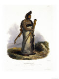 Mexkemahuastan, Chief of the Gros-Ventres of the Prairies Giclee Print by Karl Bodmer