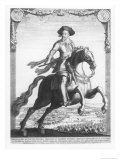 Gustavus Adolphus II, King of Sweden, on Horseback, 1632 Giclee Print by Jacob Van Der Heyden