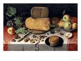 Breakfast Still Life, 1613 Giclee Print by Floris Claesz. Van Dyck