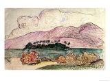 Tahitian Landscape Giclee Print by Paul Gauguin