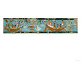Wall Painting from the Tomb of Ipuy, Thebes, Depicting a Fishing Scene, Egyptian, New Kingdom Giclee Print
