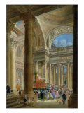Receiving the Ashes of Voltaire at the Pantheon in Paris, 11th July 1791 Giclee Print by Pierre-Antoine Demachy