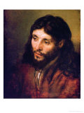Head of Christ, circa 1648 Giclee Print by Rembrandt van Rijn