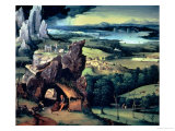 Landscape with St. Jerome Giclee Print by Joachim Patenir