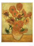 Vase of Fifteen Sunflowers, c.1889 Giclee Print by Vincent van Gogh