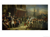 The Enrolment of Volunteers, 22nd July 1792, circa 1850-53 Gicl&#233;e-Druck von Auguste Jean-baptiste Vinchon