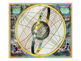 Map Charting the Orbit of the Moon Around the Earth Reproduction procédé giclée par Andreas Cellarius