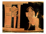 Attic Red Figure Pyxis Depicting a Bride, 5th Century BC Giclee Print