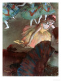 Ballerina and Lady with a Fan, 1885 Giclee Print by Edgar Degas