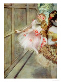 Dancer Against a Stage Flat, circa 1880 Giclee Print by Edgar Degas