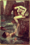 The Siren Lmina gicle por John William Waterhouse