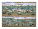 "Map of Calcutta, from ""Civitates Orbis Terrarum"" by Georg Braun and Frans Hogenberg, circa 1572 Giclee Print by Joris Hoefnagel"