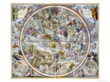 Map of the Christian Constellations as Depicted by Julius Schiller Giclee Print by Andreas Cellarius