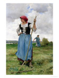 Turning the Hay Giclee Print by Julien Dupr&#233;