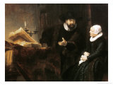 Portrait of Cornelius Anslo and His Wife, 1641 Giclee Print by  Rembrandt van Rijn