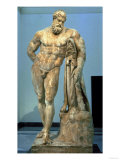 The Farnese Hercules, Roman Copy after a Greek Original by Lisippus, 3rd Century Giclee Print