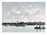 The Meuse at Dordrecht, 1874 Giclee Print by Eugène Boudin