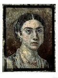 Portrait of a Young Woman, Pompeii, 1st Century Giclee Print
