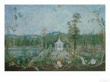 Chinese Pavilion in an English Garden, 18th Century Giclee Print by Thomas Robins