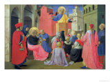 St. Peter Preaching, Predella from the Linaiuoli Triptych, 1433 Giclee Print by  Fra Angelico