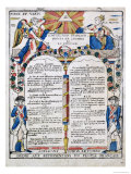French Declaration of the Rights of Man and the Citizen, 1789 Giclee Print