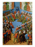 Verdict on Jean, Duke of Alencon, Accused of Having Conspired with the English Against the French Giclee Print by Jean Fouquet
