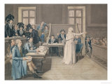 Marie Antoinette of Austria Judged by the Revolutionary Tribunal Court, 16th October 1793 Giclee Print by Pierre Bouillon