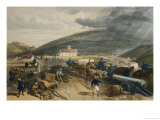 "A Hot Day in the Batteries, Plate from ""The Seat of War in the East"" Giclee Print by William Simpson"
