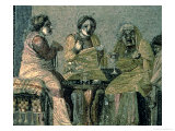 Wise Woman and Her Patients, from the Villa Cicero, Pompeii, circa 100 BC Giclee Print by  Dioscorides De Samos