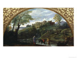 The Flight into Egypt Giclee Print by Annibale Carracci