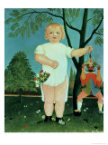 Child with a Puppet, circa 1903 Giclee Print by Henri Rousseau
